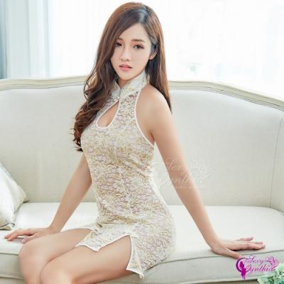 Sexy Cynthia 角色扮演 奢華緹花旗袍角色扮演服二件組-金F