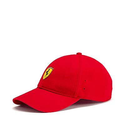 PUMA-男女Ferrari車迷系列棒球帽-法拉利紅