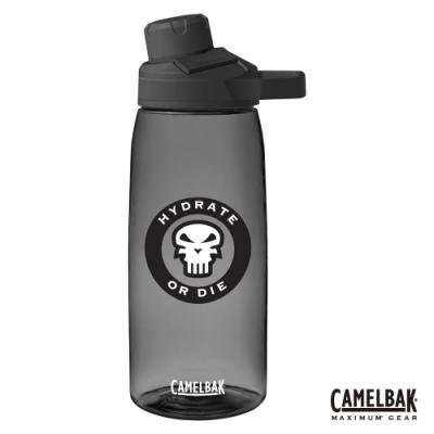 【美國 CamelBak】1000ml Chute Mag 戶外運動水瓶 骷髏黑