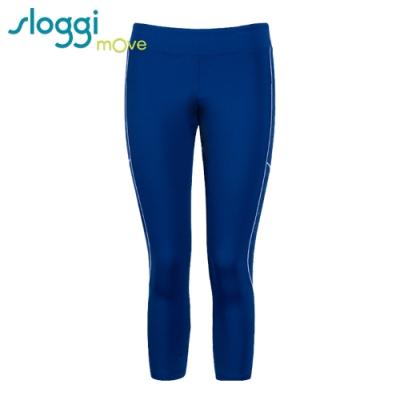 sloggi mOve FLY運動合身八分長褲 活力藍