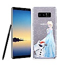 冰雪奇緣展場限定版 Samsung Galaxy Note8 透明軟式空壓殼(艾莎雪寶)