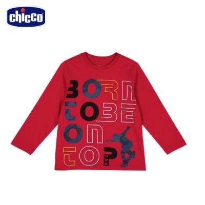 chicco-To Be B-英文滑板剪影長袖上衣