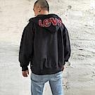 Levis 男款 連帽外套 Oversize  大Logo帽子 LOGO抽繩 黑
