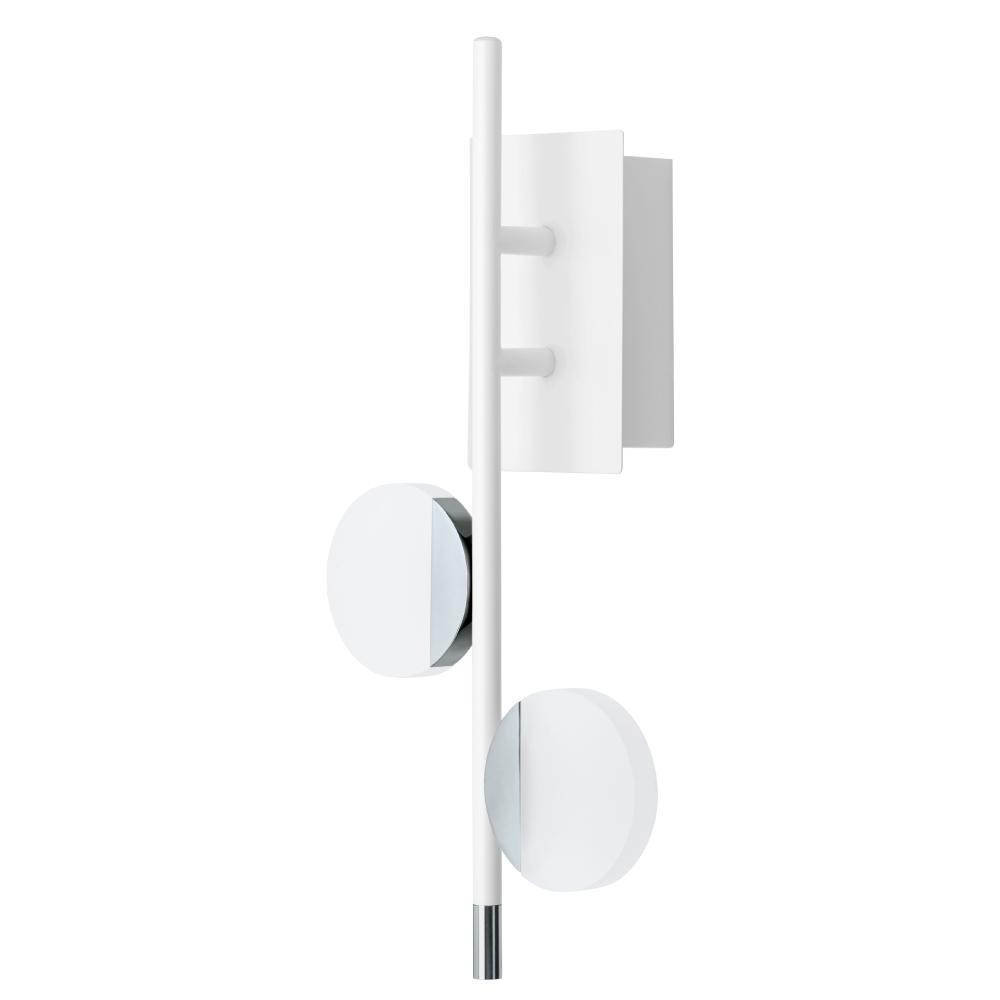 EGLO歐風燈飾 時尚白雙圓盤LED美型壁燈