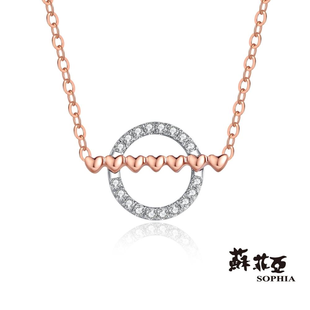 蘇菲亞 SOPHIA - 一心圓滿14K鑽石套鍊