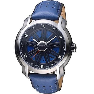 MINI Swiss Watches旋轉渦輪賽車腕錶(MINI-160402)