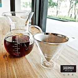 仙德曼SADOMAIN 八杯咖啡濾泡壺1000ml(34oz/8Cup)