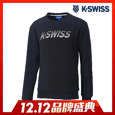 K-Swiss Crew Neck Sweatshirt圓領長袖上衣-男-黑