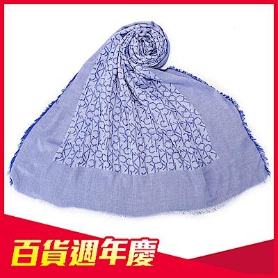 [時時樂限定]Calvin Klein CK滿版LOGO絲質披肩圍巾(3色)