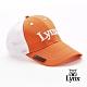 【Lynx Golf】透氣網布磁鐵Ball mark Lynx刺繡可調節式球帽-橘色