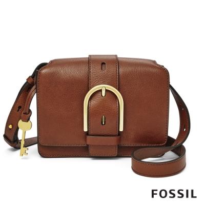 FOSSIL WILEY 真皮復古美型側背包-咖啡色 ZB7885200