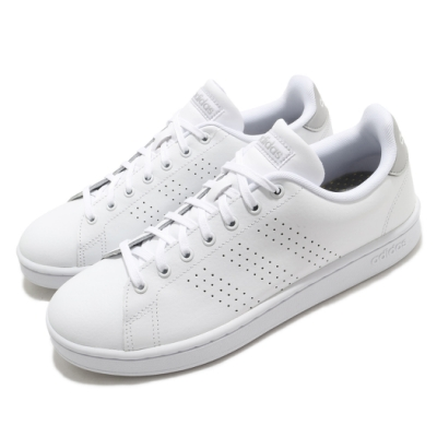 adidas 休閒鞋 Advantage 復古 低筒 男鞋 愛迪達 三葉草 皮革鞋面 上學 穿搭 白 灰 FV8491
