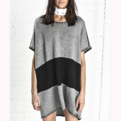 OneTeaspoon 針織洋裝 KNIT DRESS - 女(灰/黑)