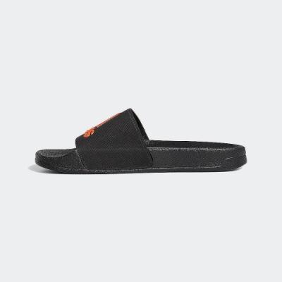 ADIDAS 休閒 運動 游泳 涼拖鞋 男女鞋 黑橘 EE9015 ADILETTE SHOWER SLIDES