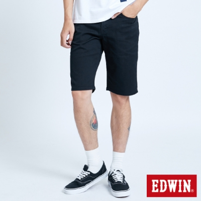 EDWIN EDGE LINE 基本五袋式 休閒短褲-男-黑色