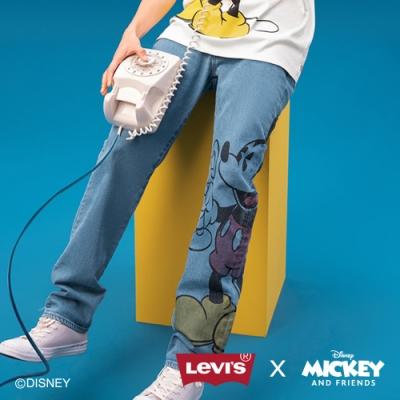 Levis X Disney 合作系列 男款 502 上寬下窄牛仔褲 / 米奇印花 / 彈性布料