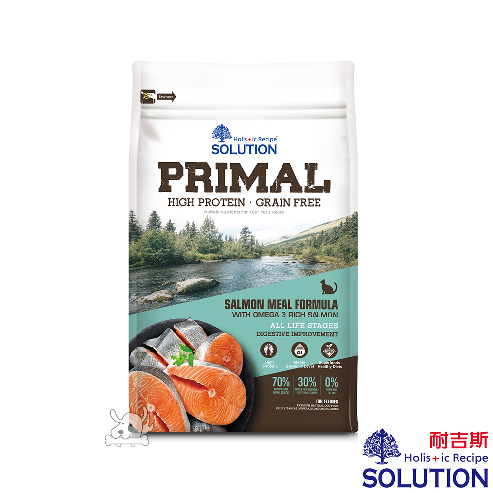 SOLUTION 耐吉斯 源野 高蛋白 鮭魚配方 無穀全齡貓糧 6lb