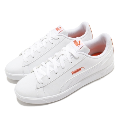 Puma 休閒鞋 Up Wns 運動 女鞋 基本款 簡約 皮革 質感 球鞋 穿搭 白 橘 37303402