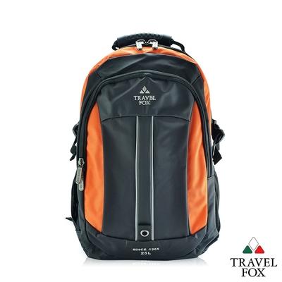 TRAVEL FOX 旅狐 雙色尼龍輕量休閒後背包 (TB586-16) 橘色