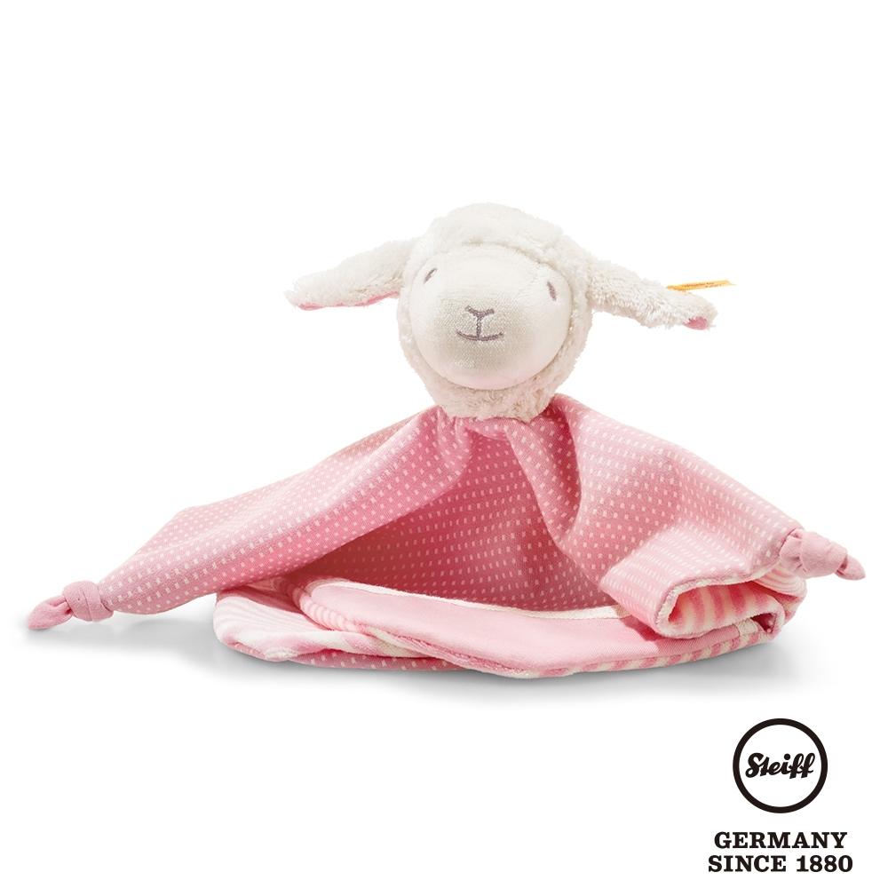 STEIFF德國金耳釦泰迪熊 羊咩咩女孩 有機棉 (嬰幼兒安撫巾)