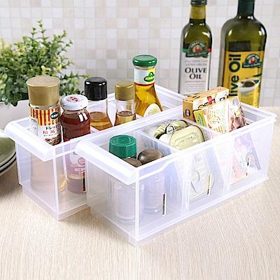 創意達人諾可隔板多用途整理盒小款(附輪)6入組