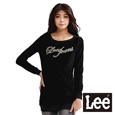 Lee 胸前印花長版厚T恤