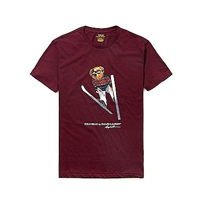 Polo Ralph Lauren 年度熱銷Polo熊短袖T恤-酒紅色