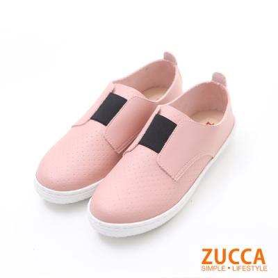 ZUCCA-軟質皮革平底懶人鞋-粉-z6214pk