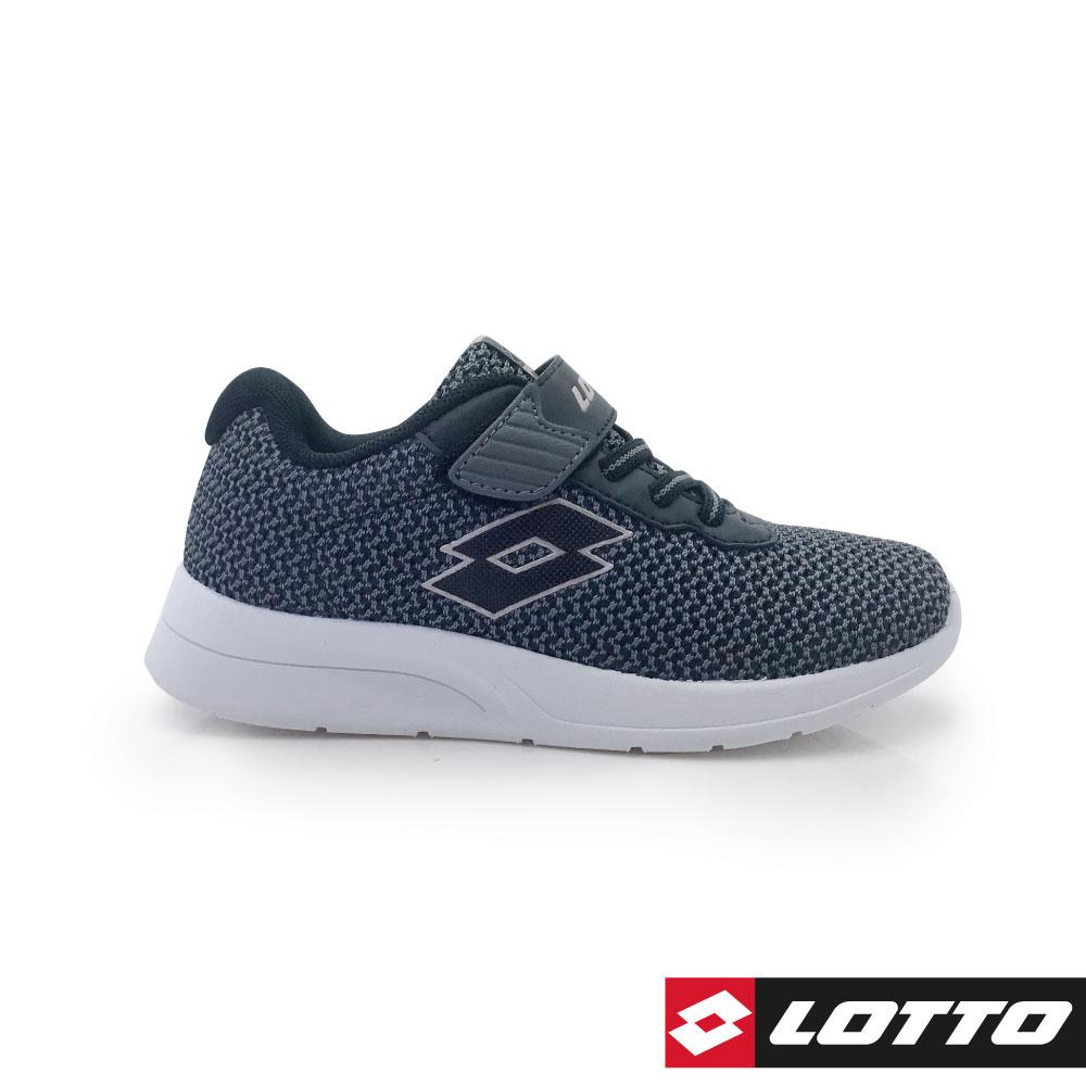 LOTTO 義大利 童 MEGALIGHT 輕量跑鞋 (灰黑)