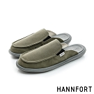 HANNFORT COZY可機洗平織布氣墊拖鞋-男-軍裝綠