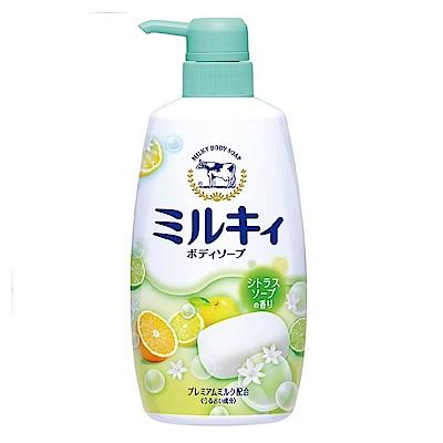 日本牛乳石鹼-牛乳精華沐浴乳(柚子果香型)550ml(總代理)