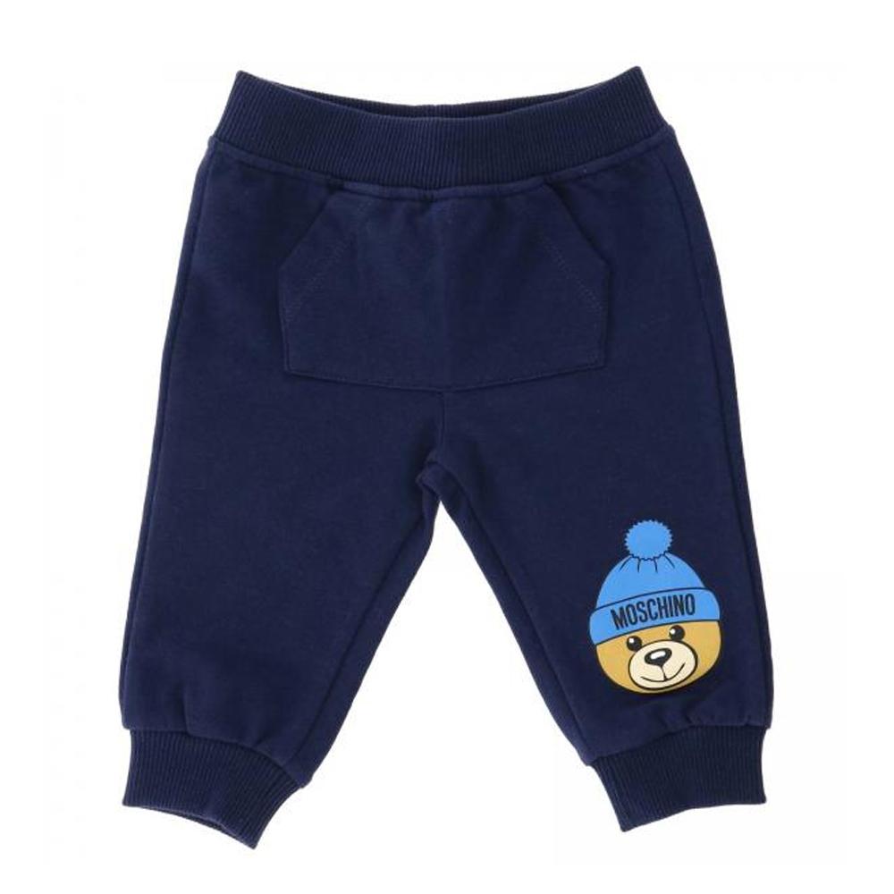 Moschino 深藍毛帽泰迪Baby長褲