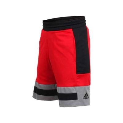 adidas 男運動短褲-慢跑 路跑 愛迪達 紅黑灰