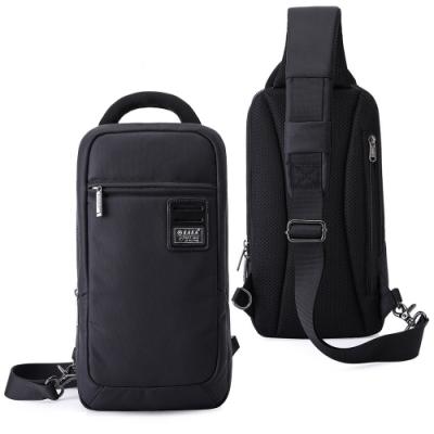 leaper USB充電休閒防水單肩包胸包 黑色