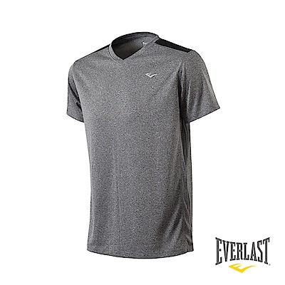 EVERLAST V領機能短袖T恤-男-麻灰