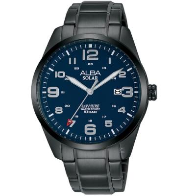 ALBA雅柏經典太陽能時尚手錶(AX3001X1)-藍x黑