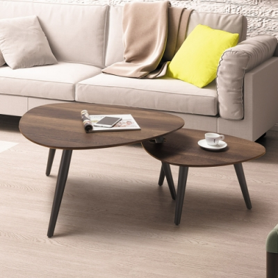 Boden-米洛爾3尺簡約茶几組合(大茶几+小茶几)-110x65x43cm