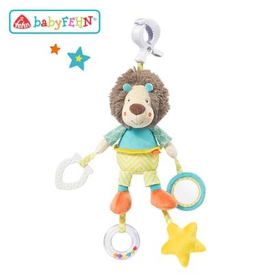 【任選】德國《baby FEHN 芬恩》嘻哈獅吊掛式布偶玩具