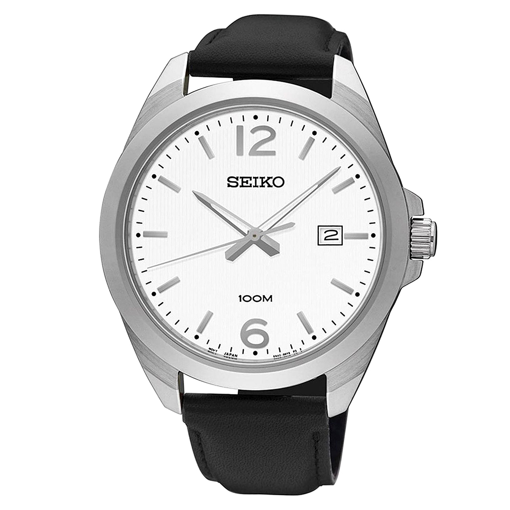 SEIKO 簡約風尚石英腕錶(SUR213P1)白-/42mm