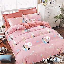 BEDDING-活性印染5尺雙人薄床包三件組-快樂永恆