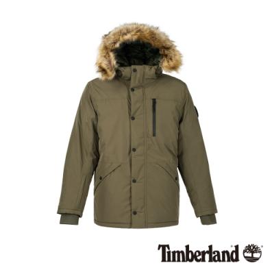 Timberland 男款葡萄葉綠防水保暖羽絨連帽外套|A1ND3