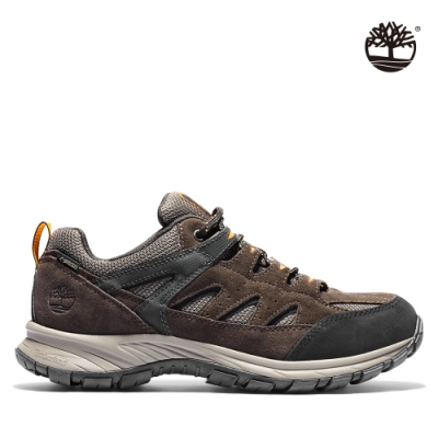 Timberland 男款中棕色絨面革防水登山鞋|A267W