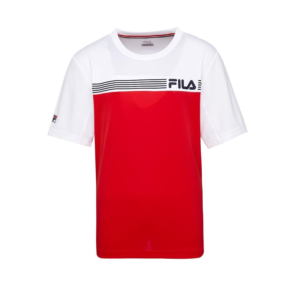 FILA 男抗UV吸濕排汗T恤-紅色 1TET-5001-RD