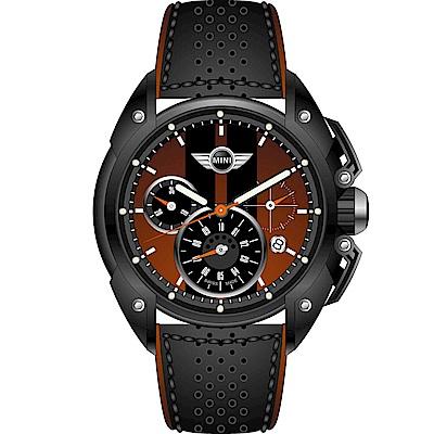 MINI Swiss Watches 極速時尚腕錶(MINI-19)-咖啡x黑/45mm