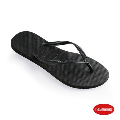 Havaianas哈瓦仕 拖鞋 夾腳拖 人字拖 巴西 女鞋 黑 4000030-0090W Slim