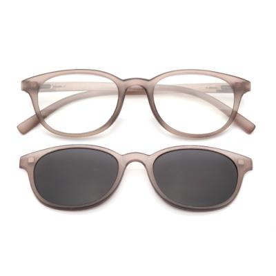 【 Z·ZOOM 】老花眼鏡 磁吸太陽眼鏡系列 時尚復古經典款 (灰色)