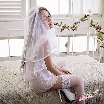 情趣睡衣 荷葉深V薄紗睡衣甜美性感睡衣情趣內衣睡衣 流行E線
