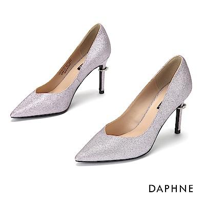 達芙妮DAPHNE 高跟鞋-輕奢夜宴鑽飾高跟鞋-淺紫