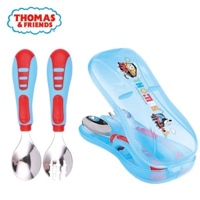【優貝選】湯瑪士THOMAS 兒童 不銹鋼叉子湯匙學習套組