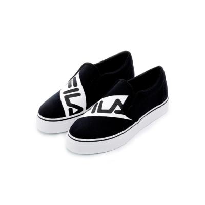 FILA 女休閒鞋-黑 5-C602T-001